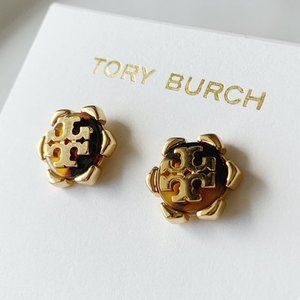 Tory Burch-signature logo earrings